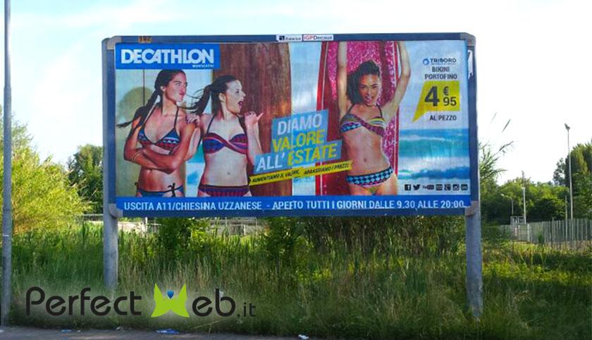 affissioni pubblicitarie Decathlon