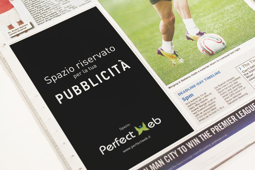 Pubblicità su giornali Perfect Web